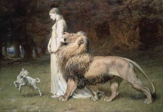 Con sư tử cầu nguyện
