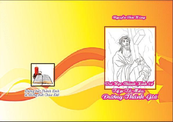 VHTK 54 Tập Tô Màu Đường Thánh Giá